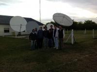 Visita con alumnos de Ingeniería Informática de la Universidad Austral un Telepuerto Satelital - 2013